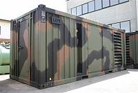 Military container for gen-set - polychrome paint
