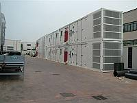 40ft container for gen-set with internal separate radiator
