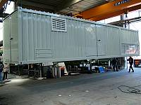 45ft sound-attenuated container for gen-set with internal separate radiator