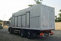 Super sound-attenuated container for gen-set, for rental market